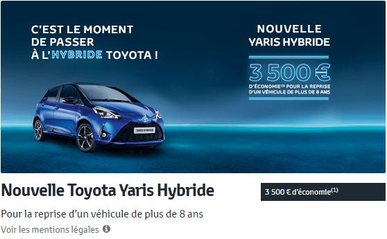 Nouvelle Toyota Yaris Hybride